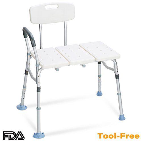 Oasisspace Tub Transfer Bench 400 Lb Heavy Duty Bath Shower Transfer Bench Adjustable Handic Shower Chairs For Elderly Handicap Shower Chair Shower Chair