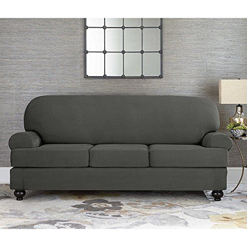 Sure Fit Designer Suede Convertible T Cushion Sofa 3 Cush Https Www Amazon Com Dp B019z3ear6 Ref Cm Sw R Pi Dp U X Ardhbb Slipcovered Sofa Slipcovers Sofa 3 piece t cushion sofa slipcover