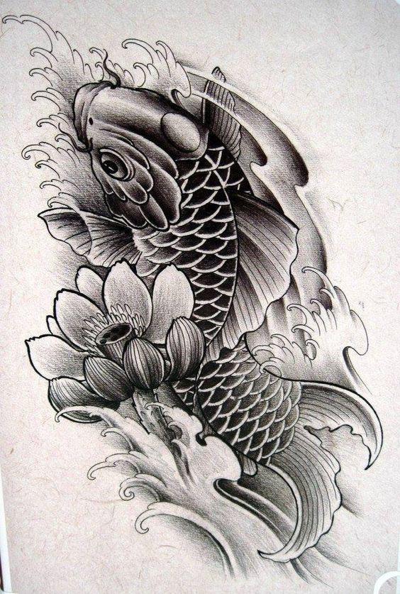Pin De Gregorio Em Tatto Desenho De Carpas Tatuagem Carpa Na Perna Tatuagem Carpa