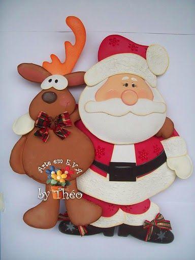 Navidad and b squeda on pinterest - Papa noel manualidades ...