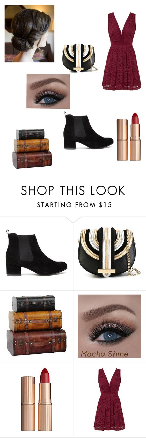 """christmas party with bae"" by madison54665 ❤ liked on Polyvore featuring Salvatore Ferragamo, Charlotte Tilbury and Free People"
