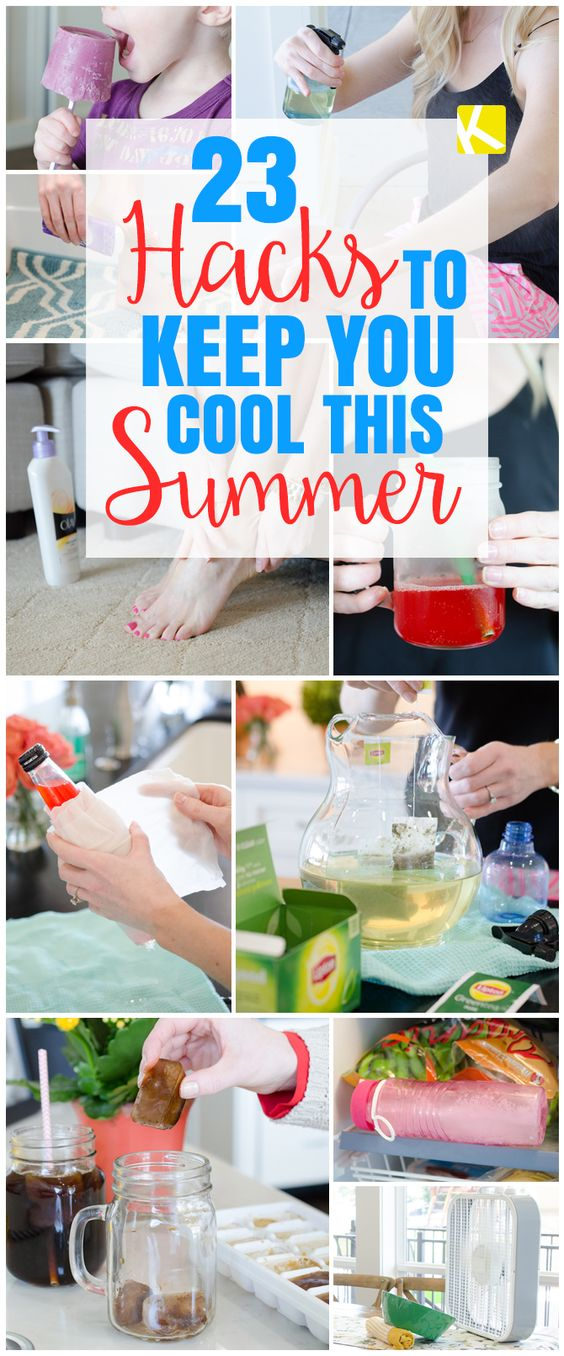 23 hacks to keep you cool this summer summer home and Cool household hacks