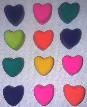 100 Recycled Heart Crayons by OliveandPlum on Etsy, $7.00