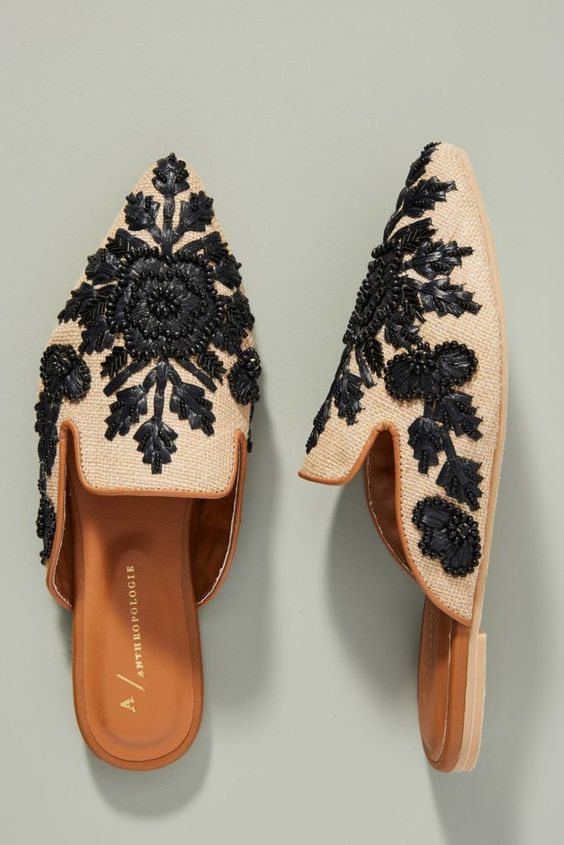 37 Embroidery Mule Flats You Will Definitely Want To Save shoes womenshoes footwear shoestrends