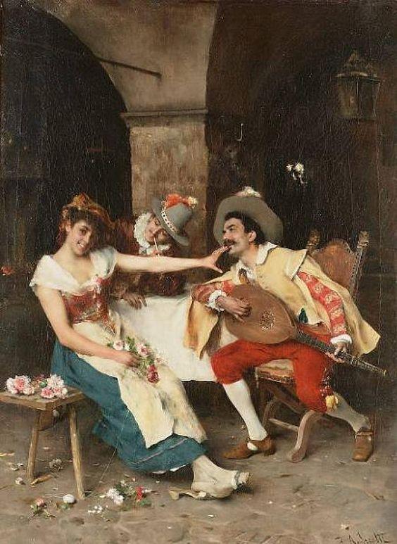 The Love Letter | Federico Andreotti ~ Italian Figurative painter | TuttArt@ | Pittura * Scultura * Poesia * Musica |
