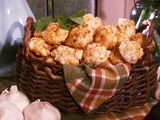 Garlic cheese biscuits. They say they rival Red Lobsters biscuits.  Use milk instead of water.