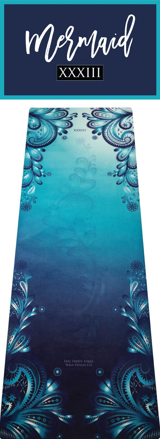 MERMAID YOGA MAT!!  Best Yoga Mats Yoga Towel Combo made Beautiful!  Calling all Inner Mermaids!  Beautiful Yoga Mats, Yoga Towel, Yoga Strap one design