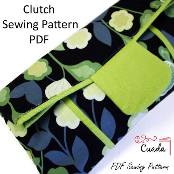 Clutch Bag PDF Sewing Pattern & Tutorial with by cuadapattern, $7.95