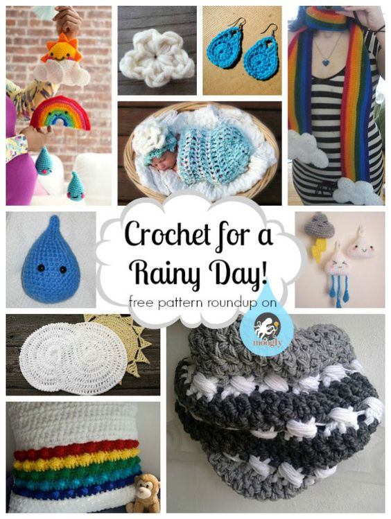 Crochet the clouds and rain away with these 10 free #crochet ...