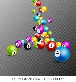 Bingo Lottery Balls Numbers Background Lottery Game Balls Lotto Winner Casino Falling Bonus Balls Template Bingo Lottery Lottery Games
