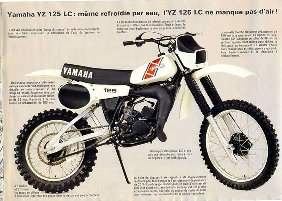 1983- Yamaha YZ Brochure from France