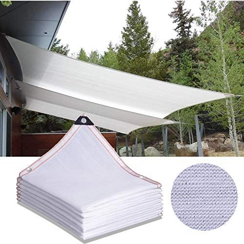 Sunduxy White Rectangle Sun Shade Sail Square Patio Side Awning Permeable Canopy Pergolas Top Cover Rectangle Straigh In 2020 Shade Sail Sun Sail Shade Outdoor Porch