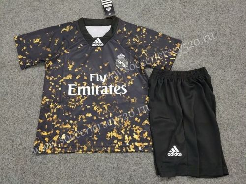 Special Edition 2019 2020 Real Madrid Black Kids Youth Soccer Uniform Soccer Shirts Kids Suits Kids Soccer