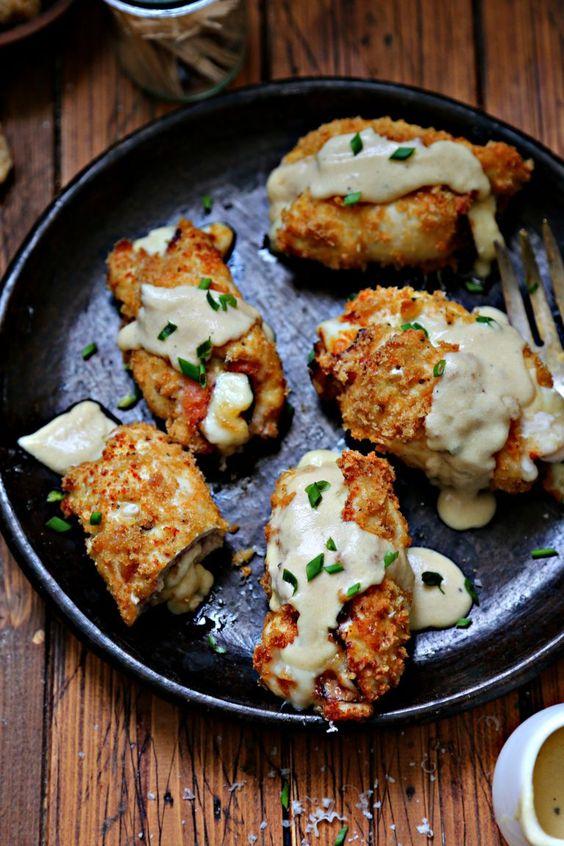 Air Fried Gluten Free Chicken Cordon Bleu