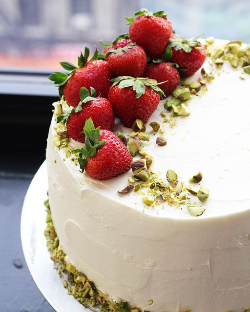 Strawberry-Rhubarb Dream Cake via Eats Well with Others #recipe