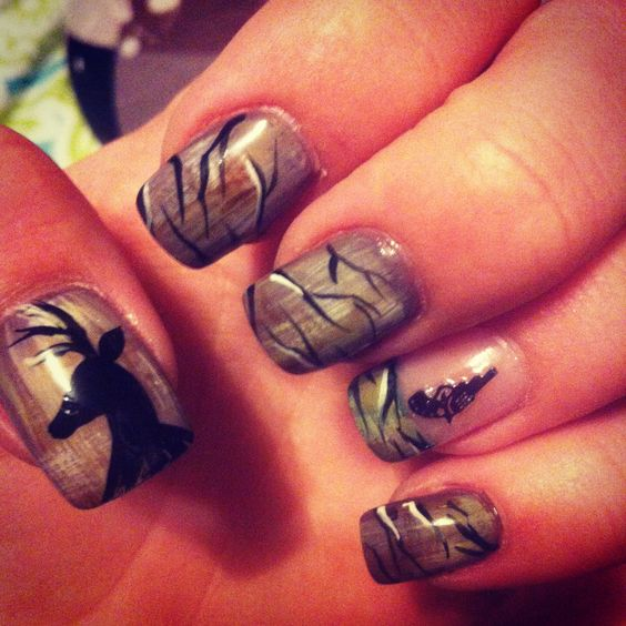deer dr who and country nails on pinterest