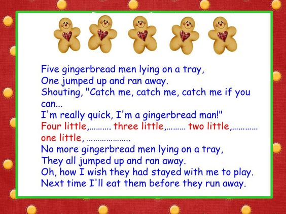 Classroom Freebies: Five Little Gingerbread Men song