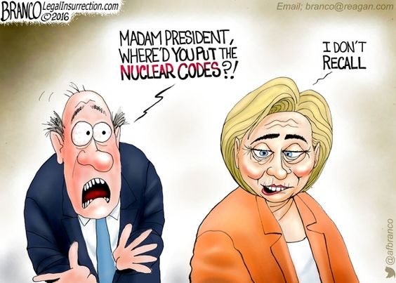 Hillary told the FBI she couldn't recall 35 times regarding classified information in her emails. What will she not recall once she's in the White House.