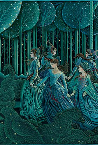 A #fairytale's illustration by Laurel Long. Silmply beautiful (love the colors). #emerald: