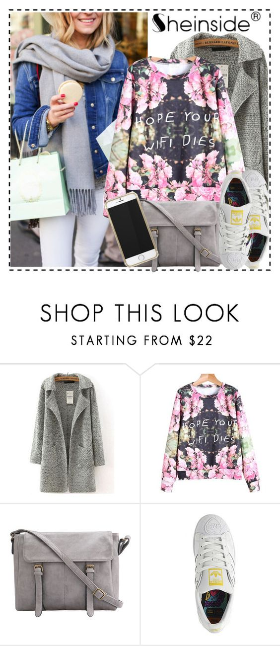 """Sheinside~Contest"" by sweet-fashionista ❤ liked on Polyvore featuring mode, adidas, Sheinside, fashion2015 en december2015"