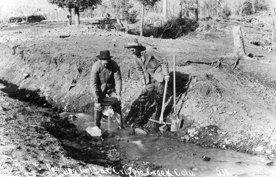 Panning Gold, Cripple Creek, Colorado c. 1890