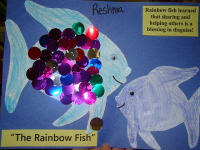 Rainbow fish fish art and fish on pinterest for Rainbow fish lesson plans