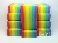 rainbow - cold-process soap