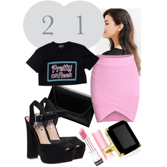 21st by mattress on Polyvore featuring polyvore, fashion, style, Steve Madden and Revlon