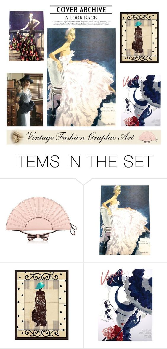"""""""Vintage Fashion Graphic Art"""" by viryabo ❤ liked on Polyvore featuring art and vintage"""