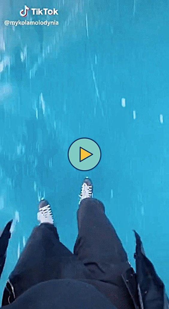 Andando de patins no gelo