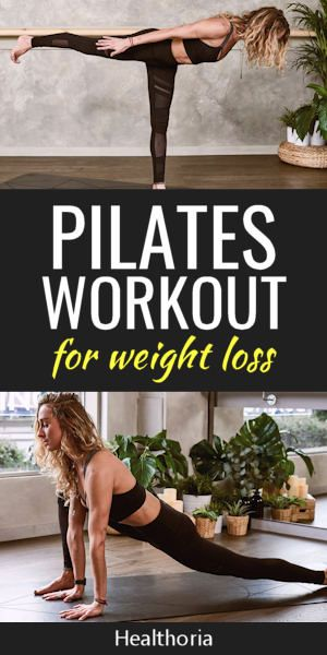 Pilates workout For Weight Loss. Learn how to use Pilates as a fun, low impact and efficient way to lose weight.