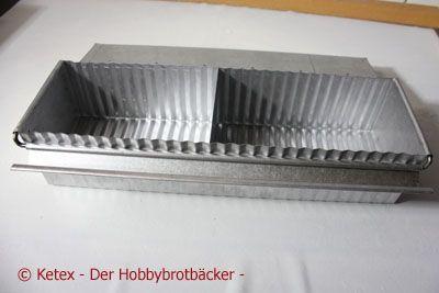 Toastbrotform mit Klappdeckel