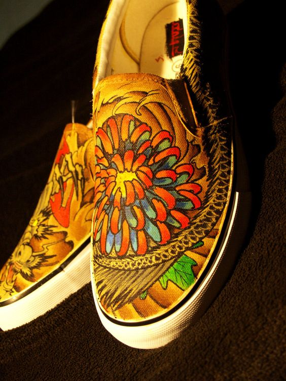 Japanese Dragon Tattoo Shoes by damndirtyangel on DeviantArt