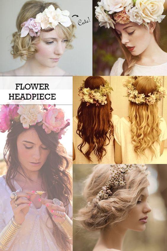 tendência - flower headpiece, flower headbanda, coroa de flores, arco de flores  http://viroutendencia.com/2014/02/23/inspiracao-tendencia-das-flower-headpieces-ou-coroas-de-flores/