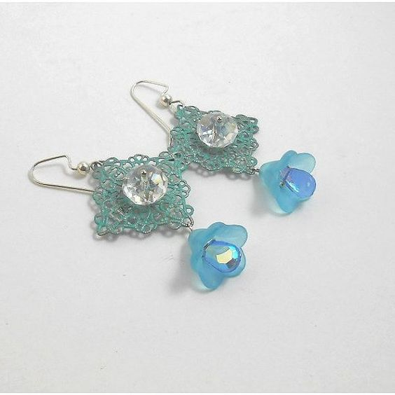 20% discount Original design Crystal EARRING. Ocean blue by TAMASHAjewelry, $13.50
