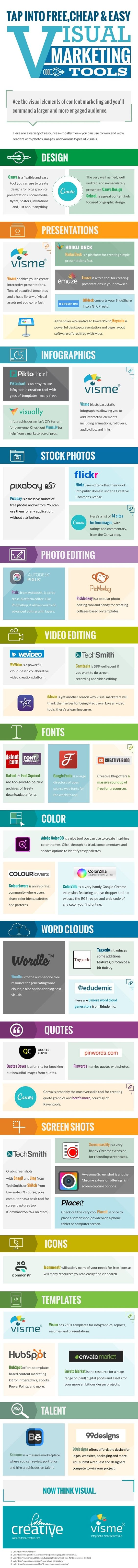 Tap Into Free, Cheap, and Easy Visual Marketing Tools [Infographic] - @marketingprofs
