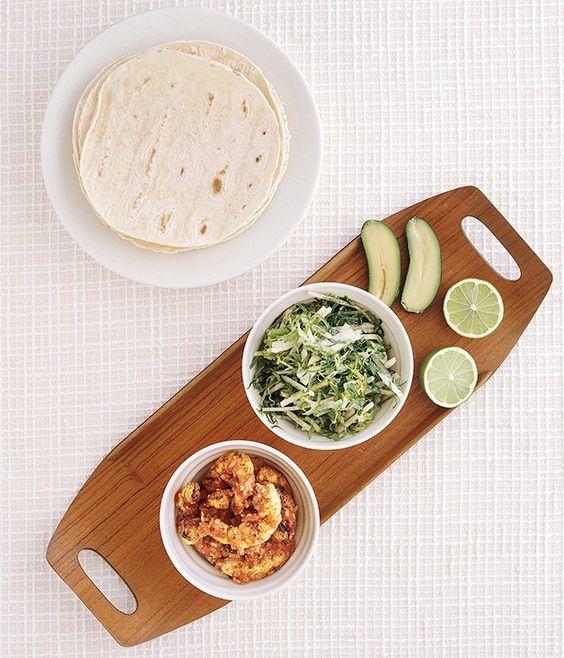 Prawn tacos with jicama slaw recipe   Gourmet Traveller recipe - Gourmet Traveller