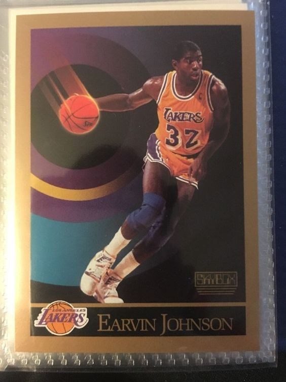 1990 Skybox Ervin Magic Johnson 138 Los Angeles Lakers Near Mint Combined | eBay