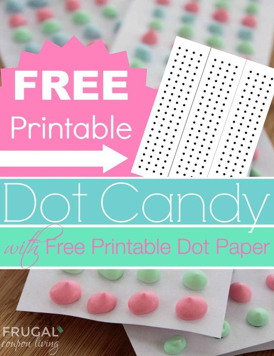 Candy Dot Tutorial and Recipe with FREE Dot Paper Template - dot paper template