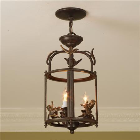 Rustic Bird Lantern