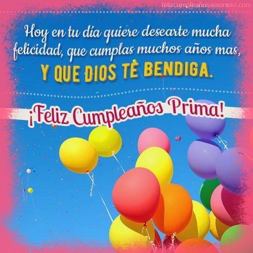 Tarjetas De Feliz Cumpleaños Prima Querida Tarjeta Feliz Cumpleaños Prima Mensaje De Feliz Cumpleaños Tarjetas De Feliz Cumpleaños