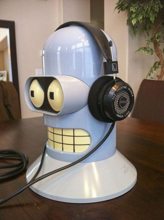 a Bender headphone holder   for the recording studio ...