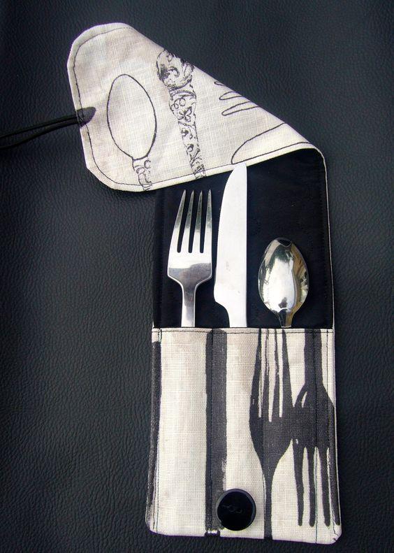 housse de rangement individuelle pour 3 couverts en tissu tables et cuisine. Black Bedroom Furniture Sets. Home Design Ideas