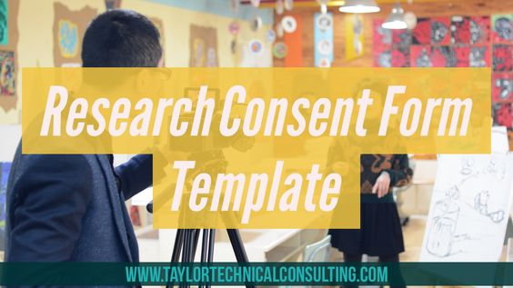 Conducting research or interviews? Use this template to get a - research consent form template