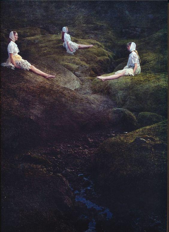 Guðrun & Guðrun in the Weather Diaries book celebrating Nordic fashion, by artist duo Sarah Cooper and Nina Gorfer