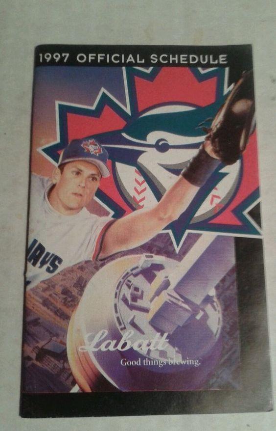 1997 toronto blue jays pocket schedule from $1.5