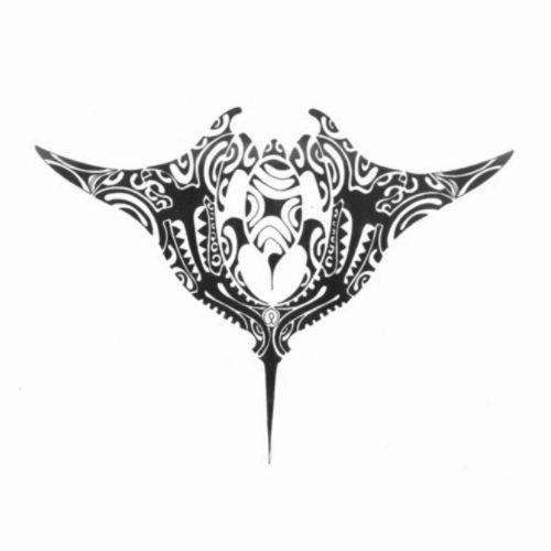 Modèle tatouage polynésien raie manta