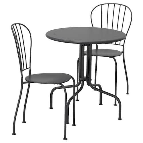 MÄLARÖ Mesa+2sill ext blanco IKEA | Ikea sillas, Ikea