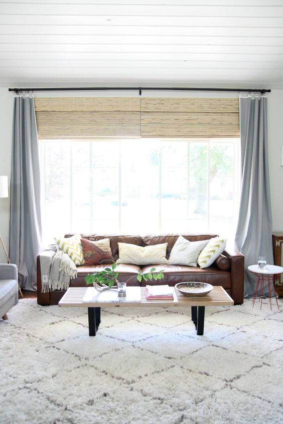 Bamboo shades shades and bamboo on pinterest for Bamboo shades in living room