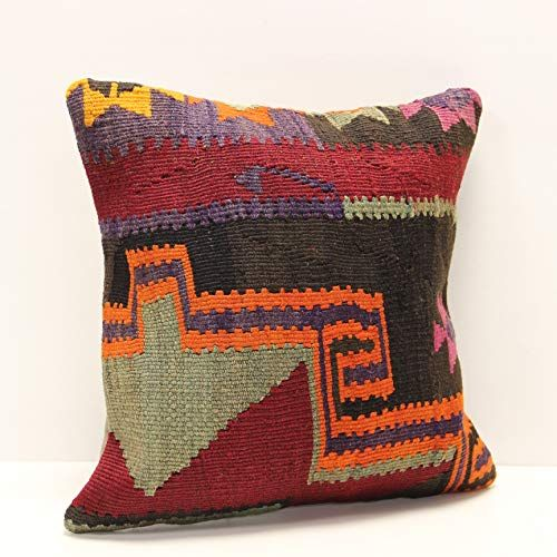 Kilim pillow cover 14x14 Inch Anatolian